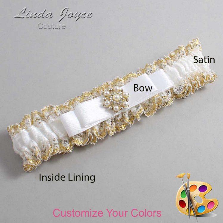 Couture Garters / Custom Wedding Garter / Customizable Wedding Garters / Personalized Wedding Garters / Becky #04-B20-M27 / Wedding Garters / Bridal Garter / Prom Garter / Linda Joyce Couture
