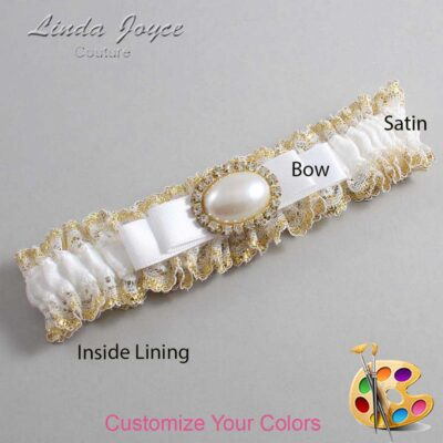 Couture Garters / Custom Wedding Garter / Customizable Wedding Garters / Personalized Wedding Garters / Martha #04-B20-M28 / Wedding Garters / Bridal Garter / Prom Garter / Linda Joyce Couture