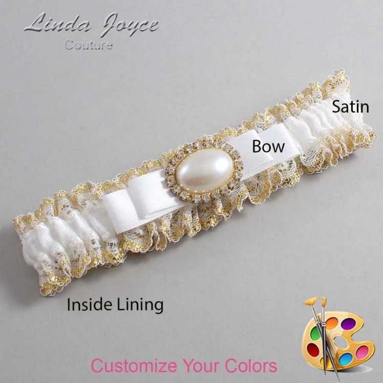 Couture Garters / Custom Wedding Garter / Customizable Wedding Garters / Personalized Wedding Garters / Martha #04-B20-M28 / Wedding Garters / Bridal Garter / Prom Garter / Linda Joyce Couture