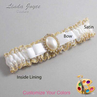 Couture Garters / Custom Wedding Garter / Customizable Wedding Garters / Personalized Wedding Garters / Molly #04-B20-M29 / Wedding Garters / Bridal Garter / Prom Garter / Linda Joyce Couture