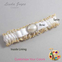 Customizable Wedding Garter / Martha #04-B20-M30-Silver