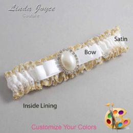 Customizable Wedding Garter / Molly #04-B20-M31-Silver