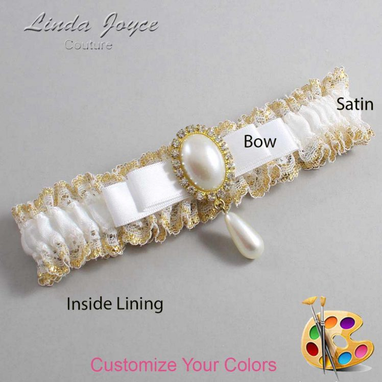Couture Garters / Custom Wedding Garter / Customizable Wedding Garters / Personalized Wedding Garters / Myra #04-B20-M34 / Wedding Garters / Bridal Garter / Prom Garter / Linda Joyce Couture
