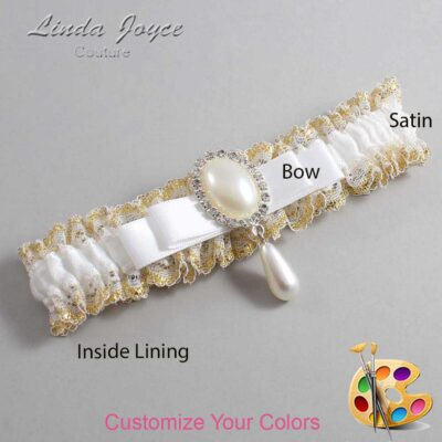 Couture Garters / Custom Wedding Garter / Customizable Wedding Garters / Personalized Wedding Garters / Myra #04-B20-M35 / Wedding Garters / Bridal Garter / Prom Garter / Linda Joyce Couture