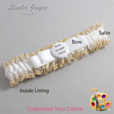 Couture Garters / Custom Wedding Garter / Customizable Wedding Garters / Personalized Wedding Garters / Custom Button #04-B20-M44 / Wedding Garters / Bridal Garter / Prom Garter / Linda Joyce Couture