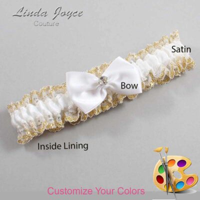 Couture Garters / Custom Wedding Garter / Customizable Wedding Garters / Personalized Wedding Garters / Melba #04-B21-M04 / Wedding Garters / Bridal Garter / Prom Garter / Linda Joyce Couture