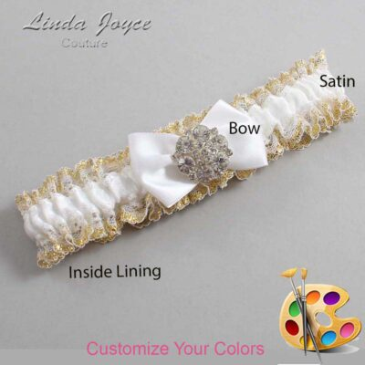 Couture Garters / Custom Wedding Garter / Customizable Wedding Garters / Personalized Wedding Garters / Abigail #04-B21-M11 / Wedding Garters / Bridal Garter / Prom Garter / Linda Joyce Couture