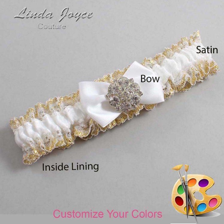 Couture Garters / Custom Wedding Garter / Customizable Wedding Garters / Personalized Wedding Garters / Abigail #04-B21-M11 / Wedding Garters / Bridal Garter / Prom Garter / Linda Joyce Couture