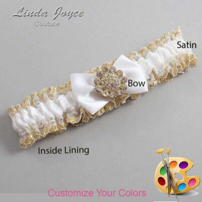 Couture Garters / Custom Wedding Garter / Customizable Wedding Garters / Personalized Wedding Garters / Carrie #04-B21-M12 / Wedding Garters / Bridal Garter / Prom Garter / Linda Joyce Couture