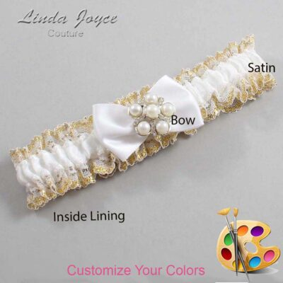 Couture Garters / Custom Wedding Garter / Customizable Wedding Garters / Personalized Wedding Garters / Deanna #04-B21-M13 / Wedding Garters / Bridal Garter / Prom Garter / Linda Joyce Couture