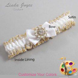 Customizable Wedding Garter / Beth #04-B21-M14-Silver