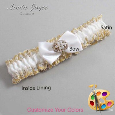 Couture Garters / Custom Wedding Garter / Customizable Wedding Garters / Personalized Wedding Garters / Annika #04-B21-M16 / Wedding Garters / Bridal Garter / Prom Garter / Linda Joyce Couture