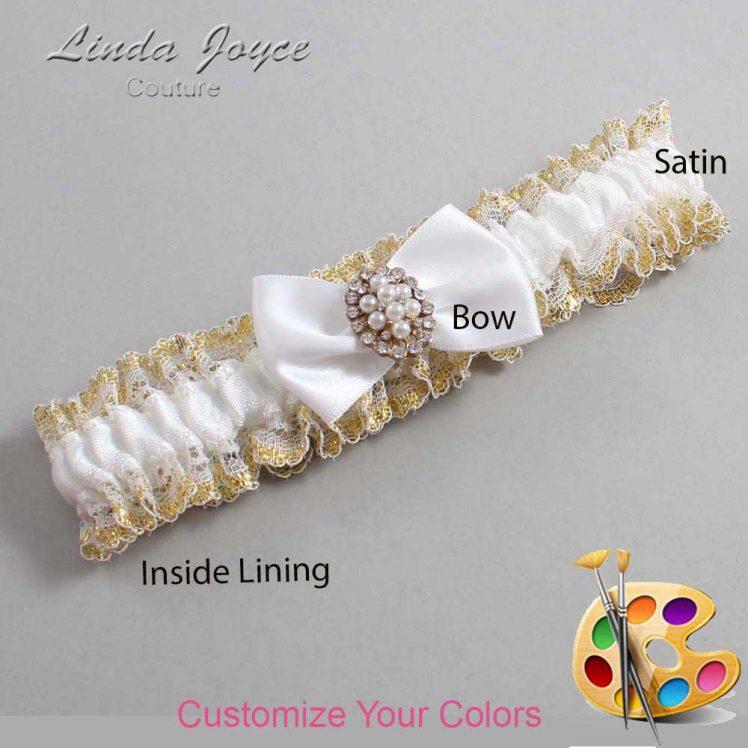 Couture Garters / Custom Wedding Garter / Customizable Wedding Garters / Personalized Wedding Garters / Betty #04-B21-M17 / Wedding Garters / Bridal Garter / Prom Garter / Linda Joyce Couture