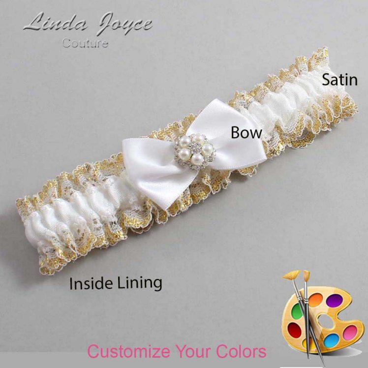 Couture Garters / Custom Wedding Garter / Customizable Wedding Garters / Personalized Wedding Garters / Britney #04-B21-M20 / Wedding Garters / Bridal Garter / Prom Garter / Linda Joyce Couture