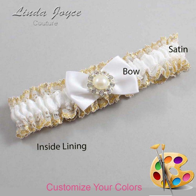 Couture Garters / Custom Wedding Garter / Customizable Wedding Garters / Personalized Wedding Garters / Ashlynn #04-B21-M24 / Wedding Garters / Bridal Garter / Prom Garter / Linda Joyce Couture