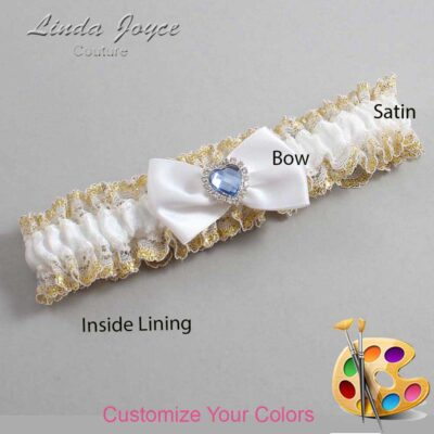 Couture Garters / Custom Wedding Garter / Customizable Wedding Garters / Personalized Wedding Garters / Alice #04-B21-M25 / Wedding Garters / Bridal Garter / Prom Garter / Linda Joyce Couture