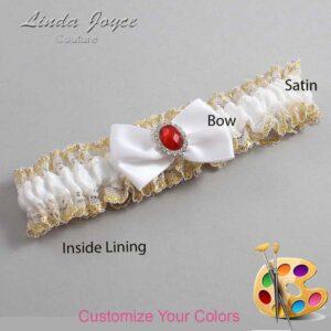 Couture Garters / Custom Wedding Garter / Customizable Wedding Garters / Personalized Wedding Garters / Lesley #04-B21-M26 / Wedding Garters / Bridal Garter / Prom Garter / Linda Joyce Couture