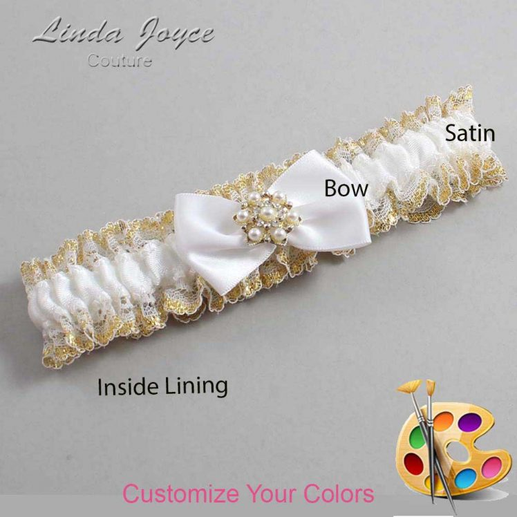 Couture Garters / Custom Wedding Garter / Customizable Wedding Garters / Personalized Wedding Garters / Addison #04-B21-M27 / Wedding Garters / Bridal Garter / Prom Garter / Linda Joyce Couture