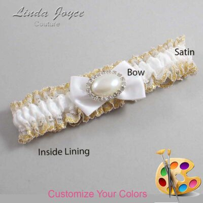 Couture Garters / Custom Wedding Garter / Customizable Wedding Garters / Personalized Wedding Garters / Bernie #04-B21-M30 / Wedding Garters / Bridal Garter / Prom Garter / Linda Joyce Couture
