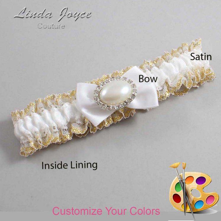 Couture Garters / Custom Wedding Garter / Customizable Wedding Garters / Personalized Wedding Garters / Bernie #04-B21-M30 / Wedding Garters / Bridal Garter / Prom Garter / Linda Joyce Couture