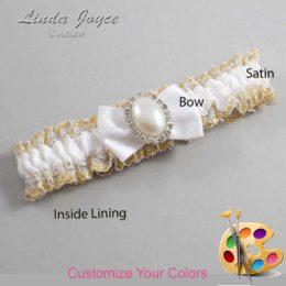 Customizable Wedding Garter / Chelsea #04-B21-M31-Silver