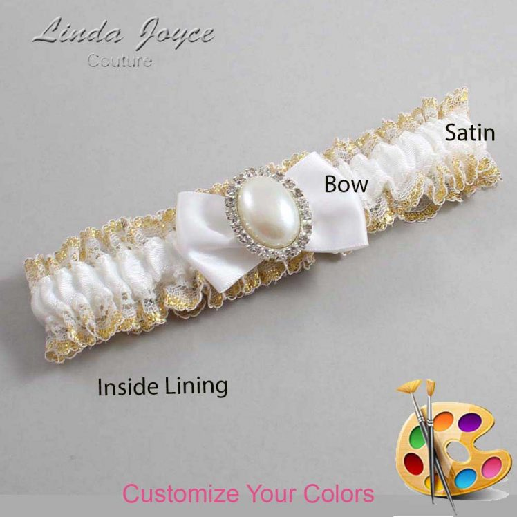 Couture Garters / Custom Wedding Garter / Customizable Wedding Garters / Personalized Wedding Garters / Chelsea #04-B21-M31 / Wedding Garters / Bridal Garter / Prom Garter / Linda Joyce Couture