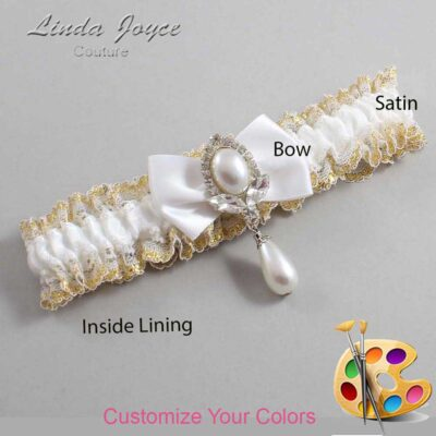 Couture Garters / Custom Wedding Garter / Customizable Wedding Garters / Personalized Wedding Garters / Afton #04-B21-M32 / Wedding Garters / Bridal Garter / Prom Garter / Linda Joyce Couture