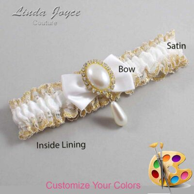 Couture Garters / Custom Wedding Garter / Customizable Wedding Garters / Personalized Wedding Garters / Victoria #04-B21-M34 / Wedding Garters / Bridal Garter / Prom Garter / Linda Joyce Couture