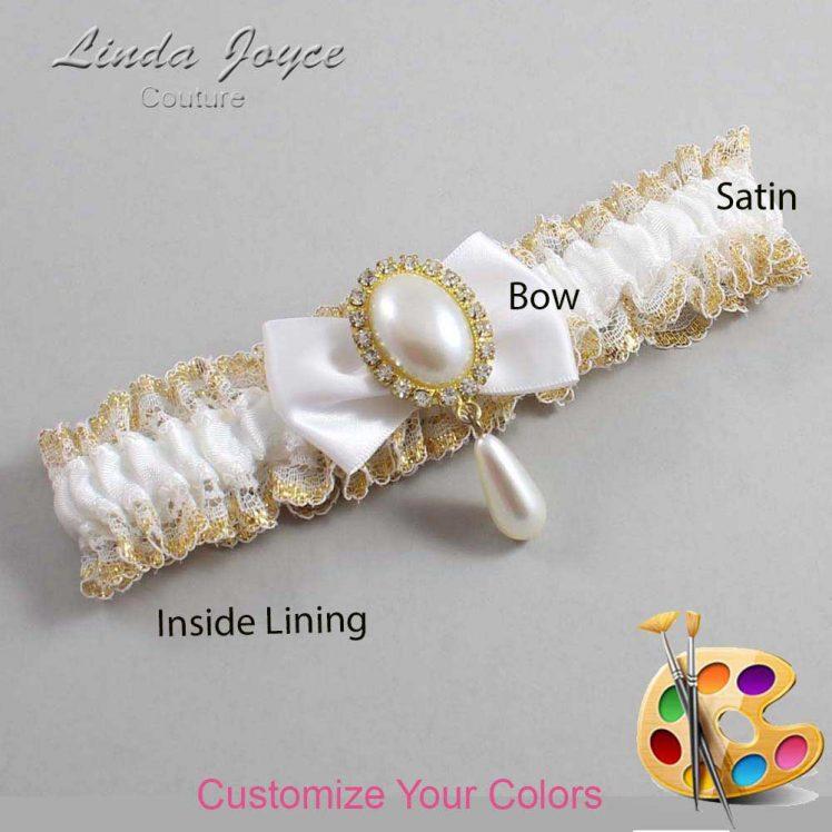 Couture Garters / Custom Wedding Garter / Customizable Wedding Garters / Personalized Wedding Garters / Victoria #04-B21-M34 / Wedding Garters / Bridal Garter / Prom Garter / Linda Joyce Couture