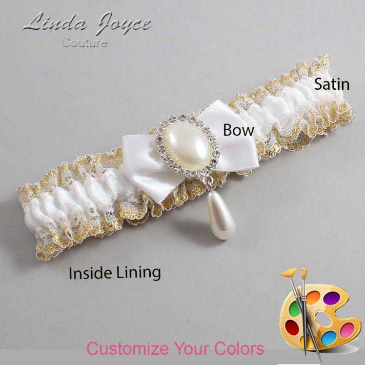 Couture Garters / Custom Wedding Garter / Customizable Wedding Garters / Personalized Wedding Garters / Victoria #04-B21-M35 / Wedding Garters / Bridal Garter / Prom Garter / Linda Joyce Couture