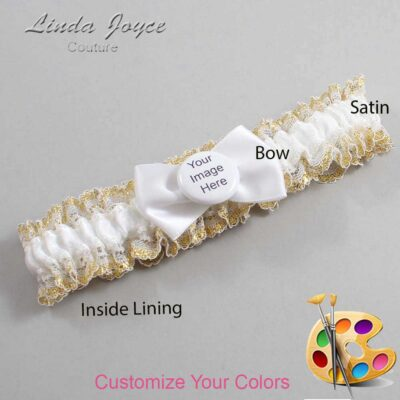 Customizable Wedding Garter / US-Military Custom Button #04-B21-M44