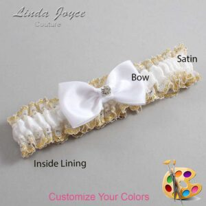 Couture Garters / Custom Wedding Garter / Customizable Wedding Garters / Personalized Wedding Garters / Jodi #04-B29-M04 / Wedding Garters / Bridal Garter / Prom Garter / Linda Joyce Couture