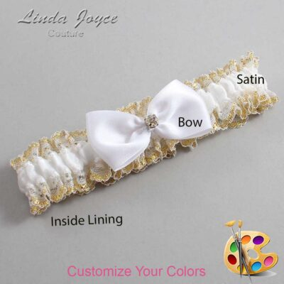 Customizable Wedding Garter / Melody #04-B31-M03-Gold