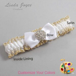 Couture Garters / Custom Wedding Garter / Customizable Wedding Garters / Personalized Wedding Garters / Michelle #04-B31-M11 / Wedding Garters / Bridal Garter / Prom Garter / Linda Joyce Couture
