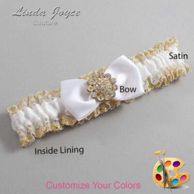 Couture Garters / Custom Wedding Garter / Customizable Wedding Garters / Personalized Wedding Garters / Loretta #04-B31-M12 / Wedding Garters / Bridal Garter / Prom Garter / Linda Joyce Couture