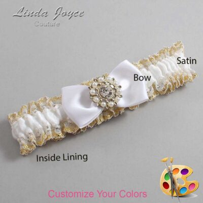 Couture Garters / Custom Wedding Garter / Customizable Wedding Garters / Personalized Wedding Garters / Lollie #04-B31-M14 / Wedding Garters / Bridal Garter / Prom Garter / Linda Joyce Couture