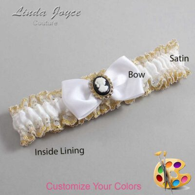 Couture Garters / Custom Wedding Garter / Customizable Wedding Garters / Personalized Wedding Garters / Krista #04-B31-M15 / Wedding Garters / Bridal Garter / Prom Garter / Linda Joyce Couture