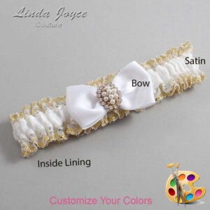 Couture Garters / Custom Wedding Garter / Customizable Wedding Garters / Personalized Wedding Garters / Lona #04-B31-M17 / Wedding Garters / Bridal Garter / Prom Garter / Linda Joyce Couture