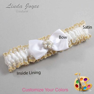 Customizable Wedding Garter / Laureen #04-B31-M20-Silver