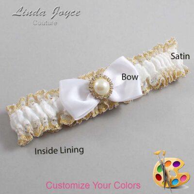 Couture Garters / Custom Wedding Garter / Customizable Wedding Garters / Personalized Wedding Garters / Kendra #04-B31-M21 / Wedding Garters / Bridal Garter / Prom Garter / Linda Joyce Couture
