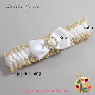 Couture Garters / Custom Wedding Garter / Customizable Wedding Garters / Personalized Wedding Garters / Louise #04-B31-M24 / Wedding Garters / Bridal Garter / Prom Garter / Linda Joyce Couture
