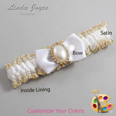 Couture Garters / Custom Wedding Garter / Customizable Wedding Garters / Personalized Wedding Garters / Mindy #04-B31-M29 / Wedding Garters / Bridal Garter / Prom Garter / Linda Joyce Couture