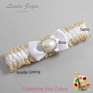 Couture Garters / Custom Wedding Garter / Customizable Wedding Garters / Personalized Wedding Garters / Juliette #04-B31-M30 / Wedding Garters / Bridal Garter / Prom Garter / Linda Joyce Couture