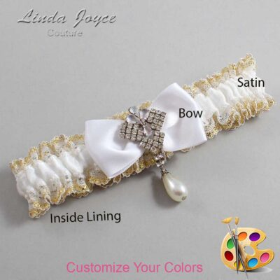 Couture Garters / Custom Wedding Garter / Customizable Wedding Garters / Personalized Wedding Garters / Mavis #04-B31-M33 / Wedding Garters / Bridal Garter / Prom Garter / Linda Joyce Couture