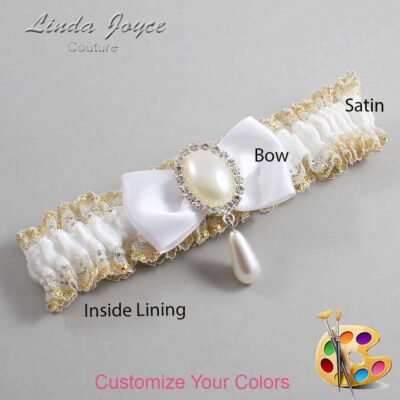 Couture Garters / Custom Wedding Garter / Customizable Wedding Garters / Personalized Wedding Garters / Meghan #04-B31-M35 / Wedding Garters / Bridal Garter / Prom Garter / Linda Joyce Couture