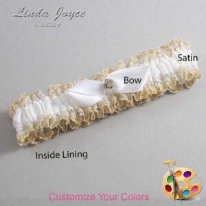 Couture Garters / Custom Wedding Garter / Customizable Wedding Garters / Personalized Wedding Garters / Trudy #04-B41-M03 / Wedding Garters / Bridal Garter / Prom Garter / Linda Joyce Couture