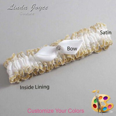 Customizable Wedding Garter / Trudy #04-B41-M04-Silver