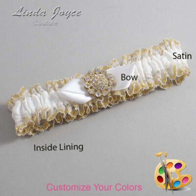 Couture Garters / Custom Wedding Garter / Customizable Wedding Garters / Personalized Wedding Garters / Zelda #04-B41-M12 / Wedding Garters / Bridal Garter / Prom Garter / Linda Joyce Couture