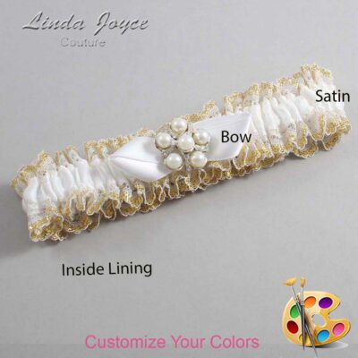 Couture Garters / Custom Wedding Garter / Customizable Wedding Garters / Personalized Wedding Garters / Wendy #04-B41-M13 / Wedding Garters / Bridal Garter / Prom Garter / Linda Joyce Couture