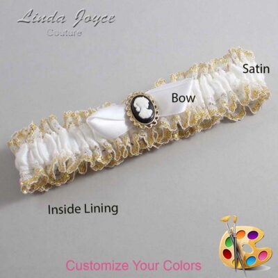 Couture Garters / Custom Wedding Garter / Customizable Wedding Garters / Personalized Wedding Garters / Bernice #04-B41-M15 / Wedding Garters / Bridal Garter / Prom Garter / Linda Joyce Couture